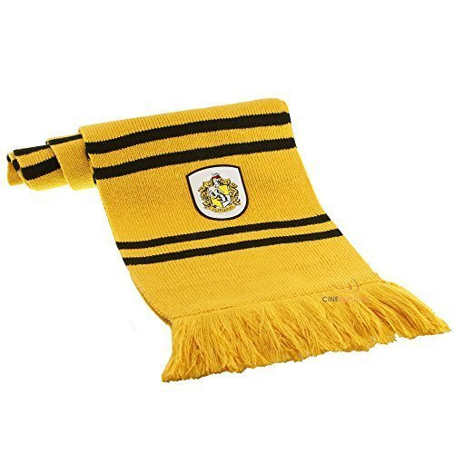Harry Potter Scarf - Official - Ultra Soft Knitted Fabric - by (Hufflepuff House Scarf)