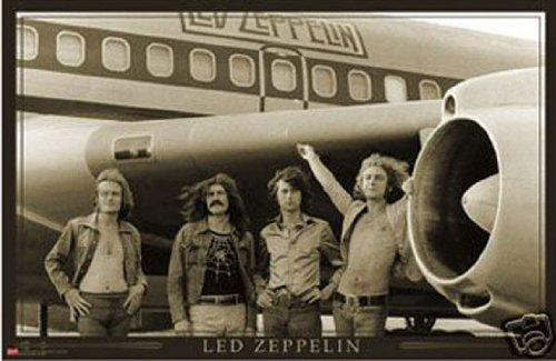 Hot Stuff Enterprise 789-24x36-MU Led Zeppelin Plane Poster