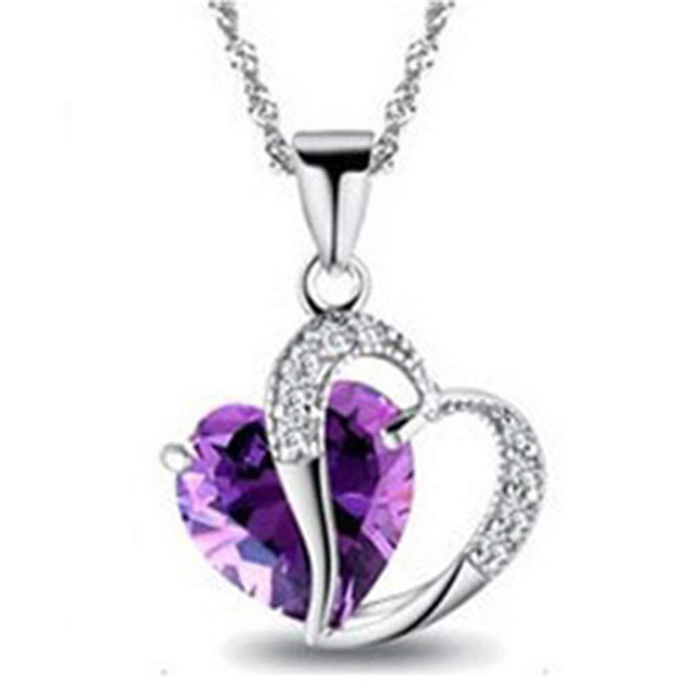 LAMEIDA Ladies Necklace Heart Necklace Irregular Necklace Wedding Anniversary Gift Women Girls Ladies 1pcs