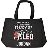 I'd Know It I'm A Leo Woman Named Jordan Gift - Tote Bag With Zip