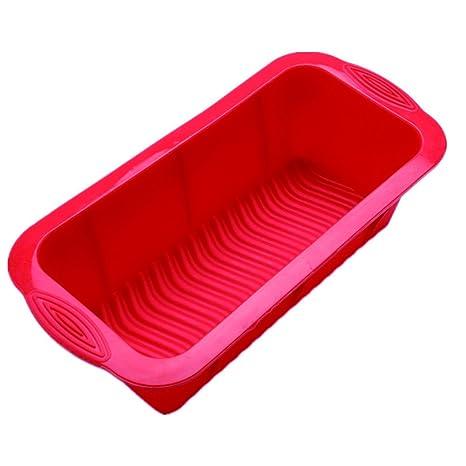 Kentop - Molde rectangular de silicona para pan, bizcochos y tostadas 25×12×