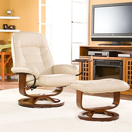 Taupe Leather Rocker Recliner - 1