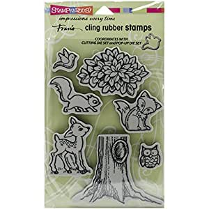Stampendous cling pop up forest rubber stamp for Rubber stamps arts and crafts