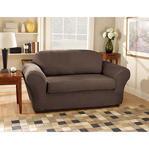 Sure Fit Stretch Suede Bench Seat - Sofa Slipcover  - Cho...