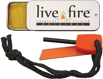 Amazon.com: Live Fire Kit de supervivencia: Sports & Outdoors