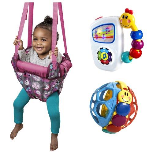 Evenflo Jenny Jump Up Doorway Jumper with Baby Einstein A...