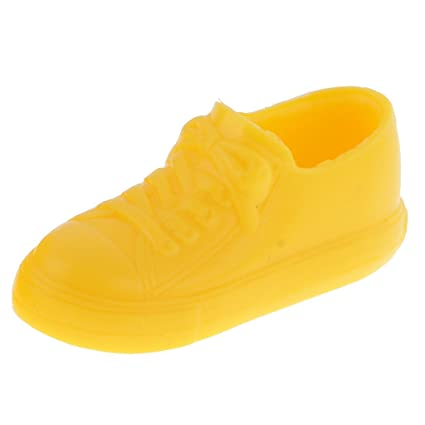 1ce9ef1d163e5 Amazon.com: MonkeyJack 1/6 Yellow Sneakers Flats Shoes Accessories ...