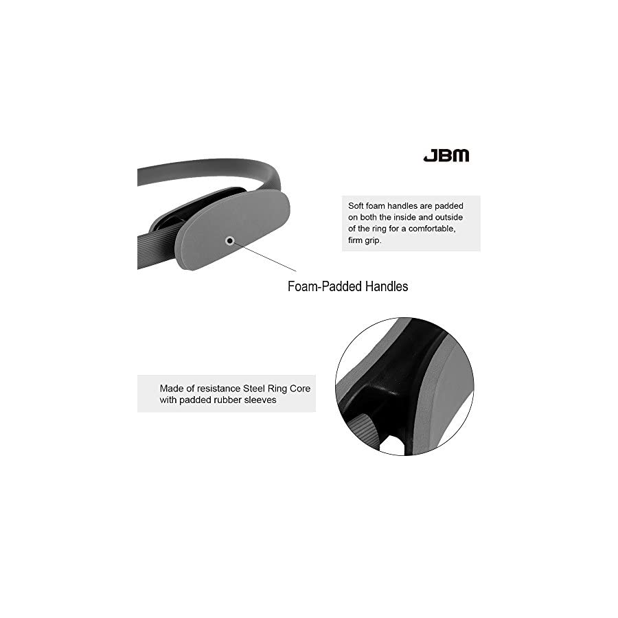 JBM Pilates Ring Fitness Ring 4 Colors, Pilates Circle Fitness Magic Circle Fitness Training, Full Body Workout, Barre Toning, Sculpting, Strength, Flexibility