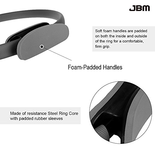 JBM Pilates Ring Fitness Ring 4 Colors, Pilates Circle Fitness Magic Circle for Fitness Training, Full Body Workout, Barre Toning, Sculpting, Strength, Flexibility