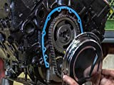How to install a timing chain cover on a V8