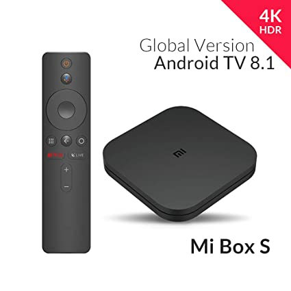 Xiaomi Mi Box S (EU Version) 4K Ultra HD Media Player with Google Assistant  Remote Control, Bluetooth, HDMI 4K HDR, Dolby Audio, DTS HD, Android 8 1