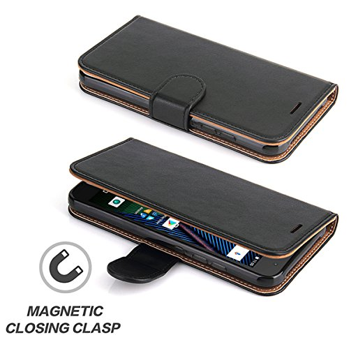 Moto G5 Plus Case, SOWOKO Book Style Leather Wallet Case Flip Folio Shockproof Protection Cover with Credit Card Slots and Kickstand for Motorola Moto G Plus (5th Generation) - Black by SOWOKO (Image #5)