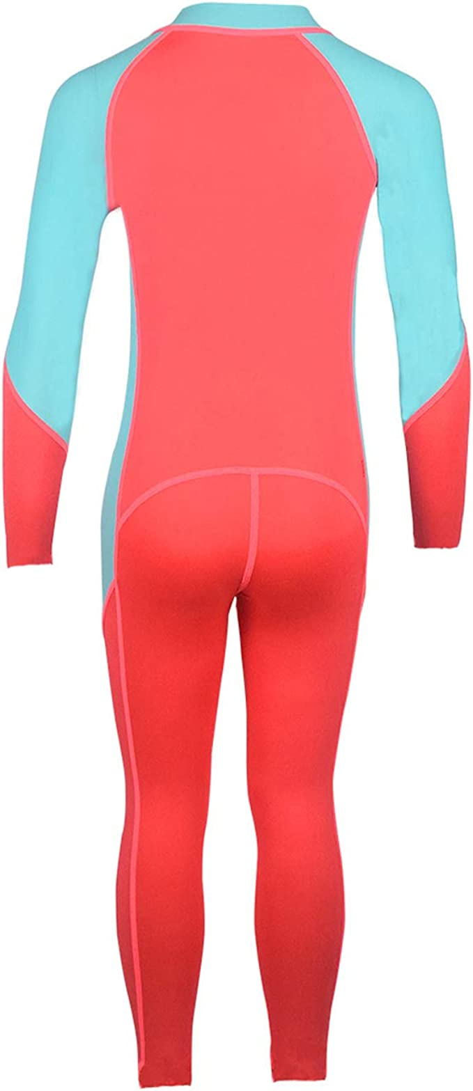 Girls One Piece Swimsuit Scuba Diving Long Sleeve Zipper Up Quick Dry Sunsuit