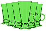 Libbey Light Green Irish Coffee Mug/Dessert Glasses 8.5 oz. set of 6 - Additional Vibrant Colors Available by TableTop King