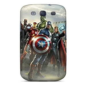 Anti-Scratch Cell-phone Hard Covers For Samsung Galaxy S3 (tEl21363EgBn) Unique Design Stylish The Avengers Skin