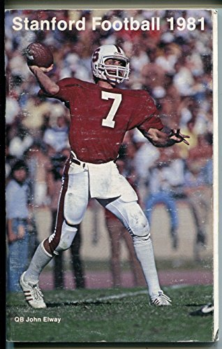 Stanford NCAA Football Team Media Guide 1981-stats-team rosters-John Elway-VG