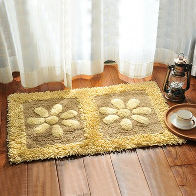 Home mats at toilet water-absorbing mats kitchen door mat bathroom mat -5080cm Sun flower by ZYZX