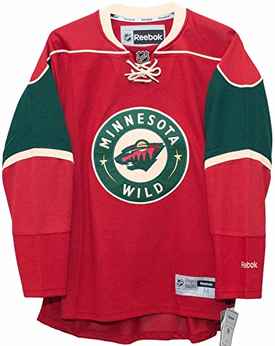 NHL Minnesota Wild Premier Jersey, Red, Large