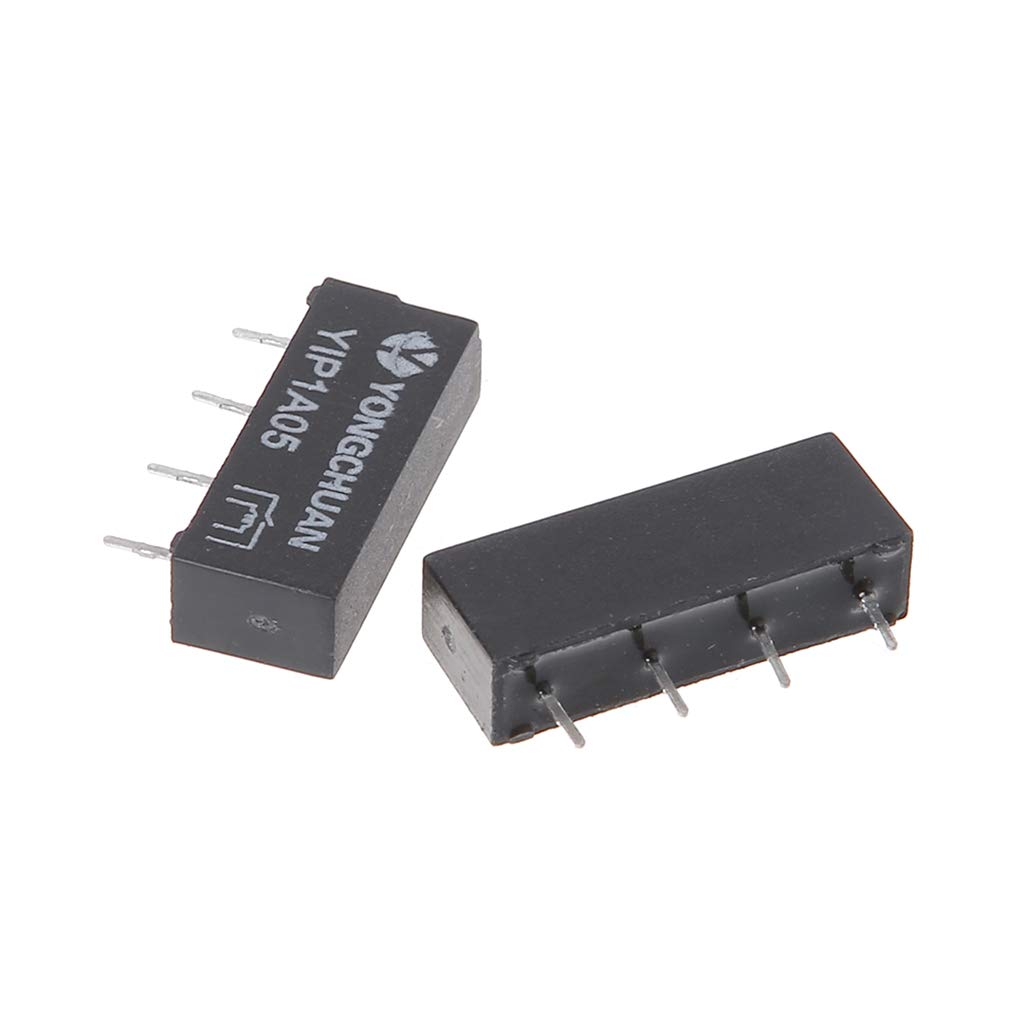 LANDUM 5pcs 5V SIP-1A05 Reed Switch Relay Single In-line 4pin for PAN Chang Relay