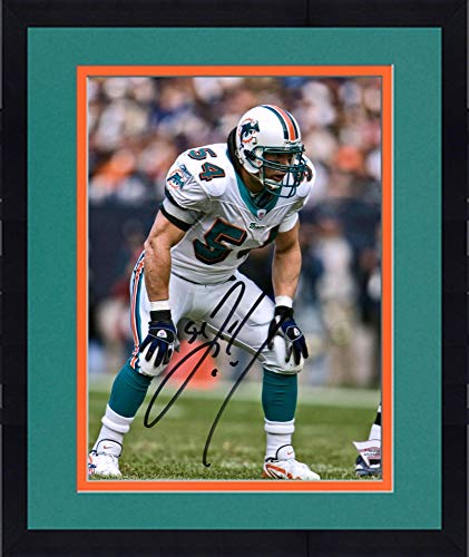 """Used, Framed Zach Thomas Miami Dolphins Autographed 8"""" x for sale  Delivered anywhere in USA"""