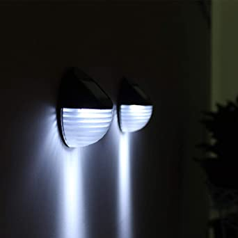 Led Lámpara De Pared Solares Jardín Casero Anochecer Sensor Automático Recargable Exterior Impermeable Patio Iluminación Luz nocturna Luces Solares Patio Escalera: Amazon.es: Iluminación