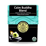 Calm Buddha Blend Tea - Wild Crafted, Kosher, Caffeine-Free, GMO-Free - 18 Bleach-Free Tea Bags