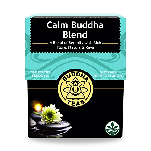 (Calm Buddha Blend Tea - Wild Crafted, Kosher, Caffeine-Free, GMO-Free - 18 Bleach-Free Tea)
