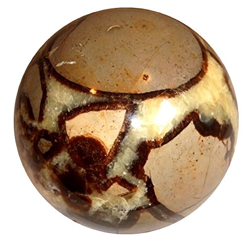 (SatinCrystals Septarian Ball Premium Dragon Stone Fierce Passion, Power & Healing Energy Sphere P01 (1.6 Inch))