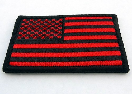 612f2f6e113 Amazon.com  US American Flag Patch Bloodred   Black tactical - 3