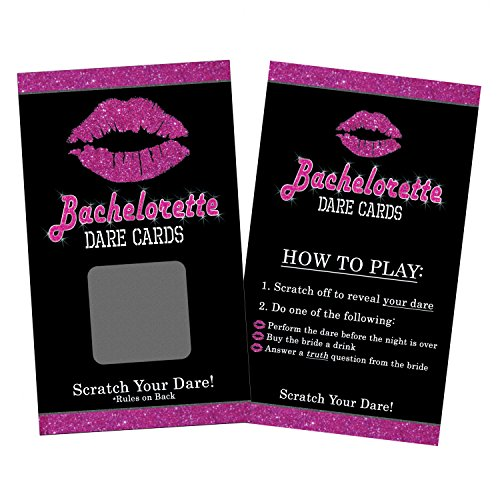 Bachelorette Dare Card Party Game - Girls Night Out - 24 Scratch Off Cards
