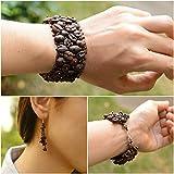 Guatemalan Coffee Bean Bracelet Earrings Set, Handmade Fashion Jewelry Gift - Kapeej-Kapeej