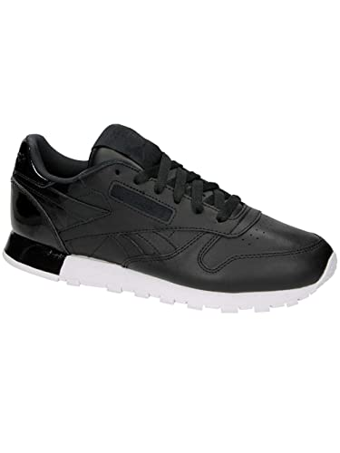 a4811f1752209 Reebok Classic Leather Matte Shine Femme Baskets Mode Noir  Amazon.fr   Chaussures et Sacs