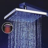 8 inch Brass Shower Head with Color Changing LED Light Model C