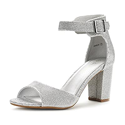 Dream Pairs Women's HHER Low Heel Pump Sandals