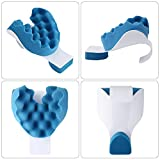 Aneil Travel Pillow Memory Foam Massage Neck Traction Head Support Ergonomics on Train Airplane Car Office Rest Driving Sleeping