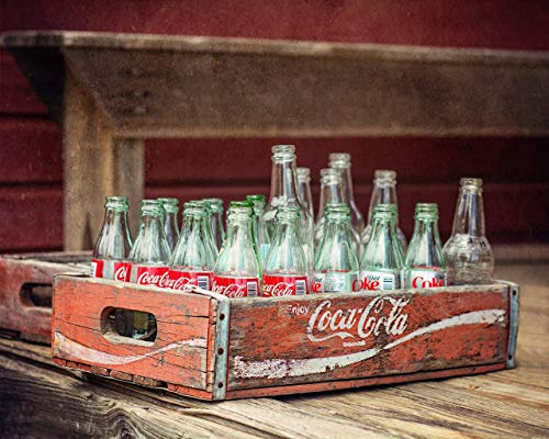 Rustic Coca Cola Crate PHOTOGRAPH - Modern Farmhouse Decor, Rustic Wall Art, Rustic Farmhouse Decor, Red Kitchen Art, Rustic Decor, Country Kitchen Art, Country Decor, Farm Decor, CRATE NOT FOR SALE (Crate Coca Wooden Cola)
