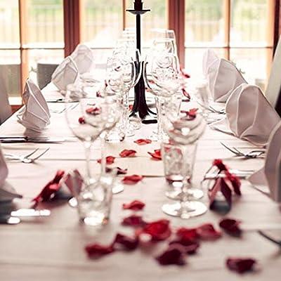 BESKIT 3000 Pieces Silk Rose Petals Artificial Flower Petals for Wedding Confetti Flower Girl Bridal Shower Hotel Home Party Valentine Day Flower Decoration