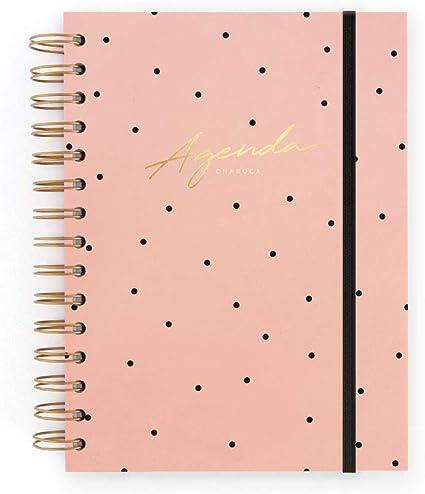 Agenda sin fechas. Rosa. Semana+notas: Amazon.es: Oficina y papelería
