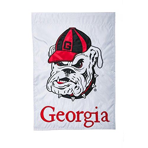 Team Sports America Applique University of Georgia Bulldogs Garden Flag, 12.5 x 18 inches