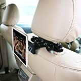 """Magnetic Car Headrest Phone Tablet Holder Mount OHLPRO Backseat Seat Universal 360° Rotation Super Strong Magnet for iPhone 7/7Plus/6s iPad Mini4/3/2/1 Phone and Tablet 4""""- 10"""" Mount"""