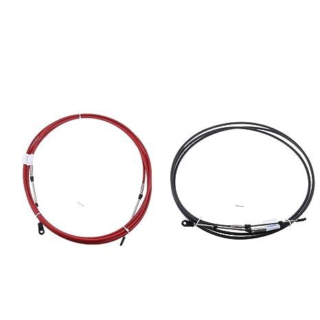 Sharplace 2pcs Cable de Control de Cambio de Acelerador Para Fueraborda Yamaha 19ft