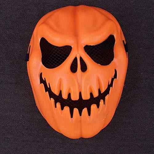 Iusun Halloween Pumpkin Mask, Funny Pumpkin Latex Mask Halloween Party Cosplay Face Mask Tool Prop (Orange) ()