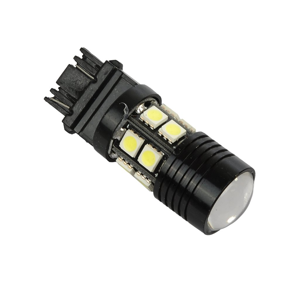 HOTSYSTEM 4x White Cree with Projector 12-SMD 3156 3157 3057 3757 4114 4157 LED Parking Light Tail Backup Light Lamp Bulb For Car