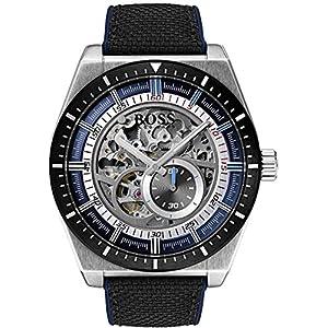 Hugo Boss Hommes Squelette Automatique Montres bracelet avec bracelet en Cuir – 1513643