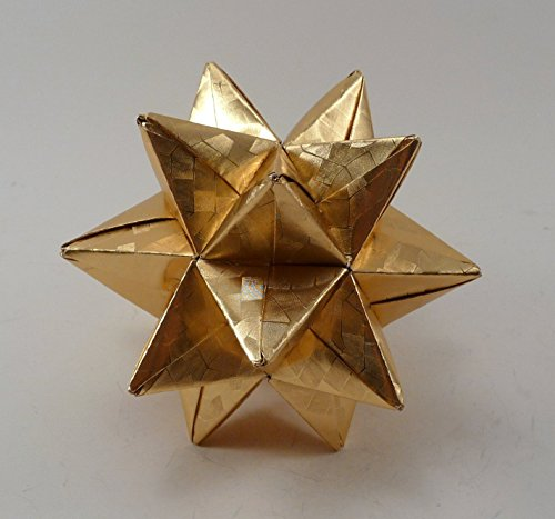 Medium Christmas Star, Christmas Ornament, Gold Star Ornament, Origami Star, Origami Ornament, Gold Foil Star ()