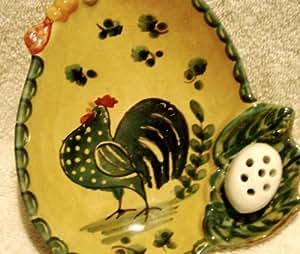 Modigliani Festa Chicken Mini Serving Platter Egg~shaped Hors d'Oeuvres Dish Italy