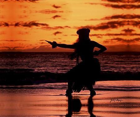 Hawaiian Hula Dancer 3011 Maui Hawaiiana Series Canvas Wrap 11x14 Ready To Hang Prints Posters Prints