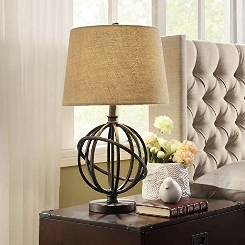 (Cooper Antique Bronze Metal Orbit Globe 1-light Accent Table Lamp)