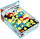 Angry Birds Plush Fuzzy Feather Toppers Flinger Set of 6 Officially Licensed By Rovio