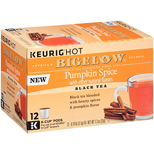 Bigelow Pumpkin Spice Keurig K-Cups Box of 12 Cups (Pack of 6), 72 Tea Bags Total.   Single Serve Portion Premium Tea in Pods Compatible with Keurig and other -